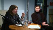 Sibylle Lewitscharoff und Arne Zerbst (Präsident der Muthesius Kunsthochschule)